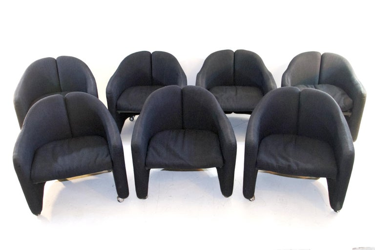 Ten Armchairs by Eugenio Gerli for Tecno Serie PS 142, Italy For Sale 4