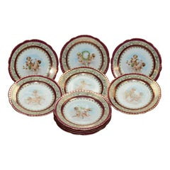 Ten Austrian Royal Vienna School Classical Luncheon Plates by Higgins & Seiter