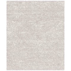 Ten Beige Hand Knotted Wool, Tencel and Aloe Rug 'Meidum-Size'