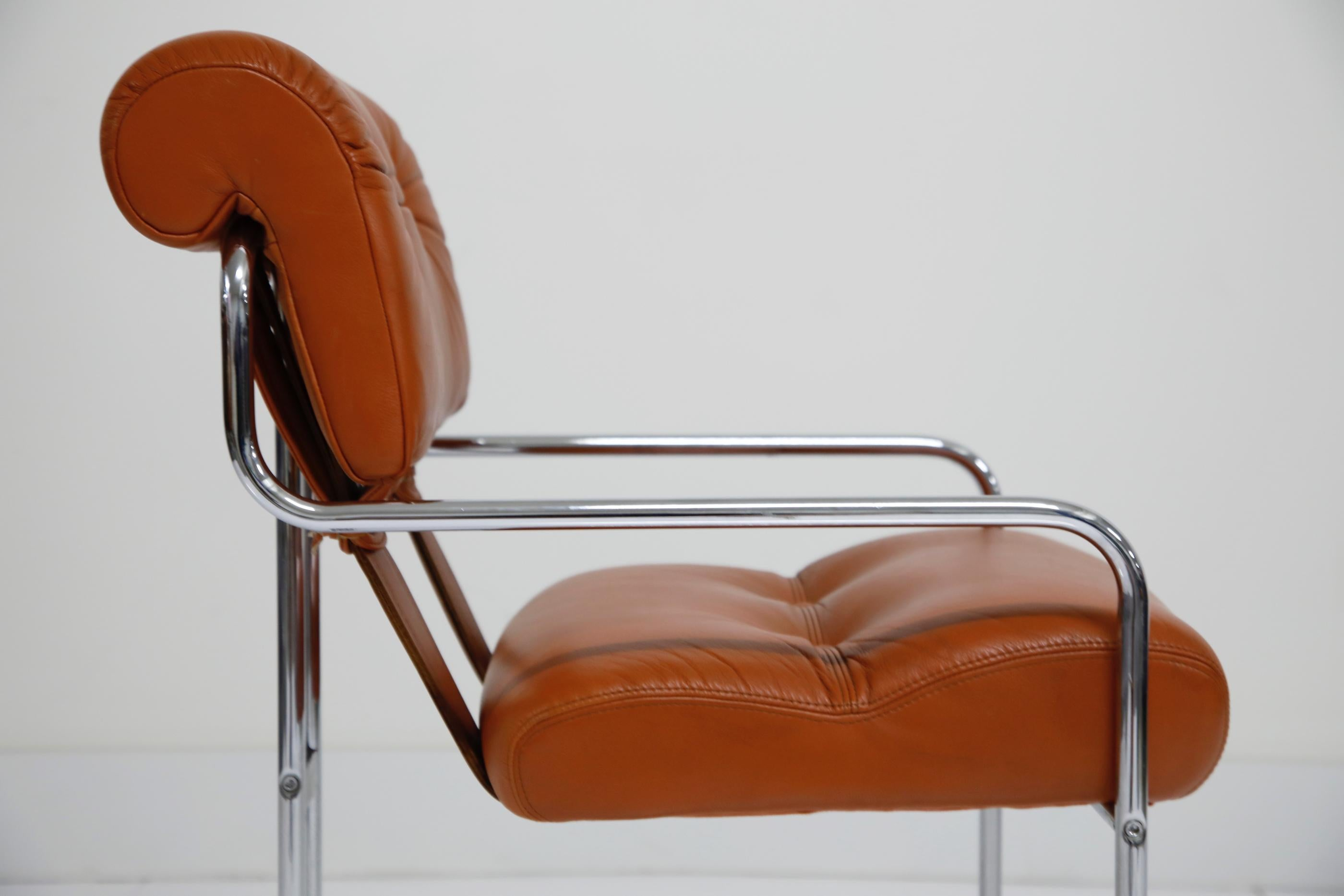 Stupendous Ten Cognac Leather Tucroma Chairs By Guido Faleschini For Bralicious Painted Fabric Chair Ideas Braliciousco