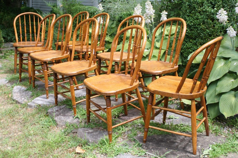 TEN Connecticut Hoop Back Windsor Chairs For Sale 2