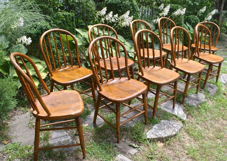 TEN Connecticut Hoop Back Windsor Chairs For Sale 3