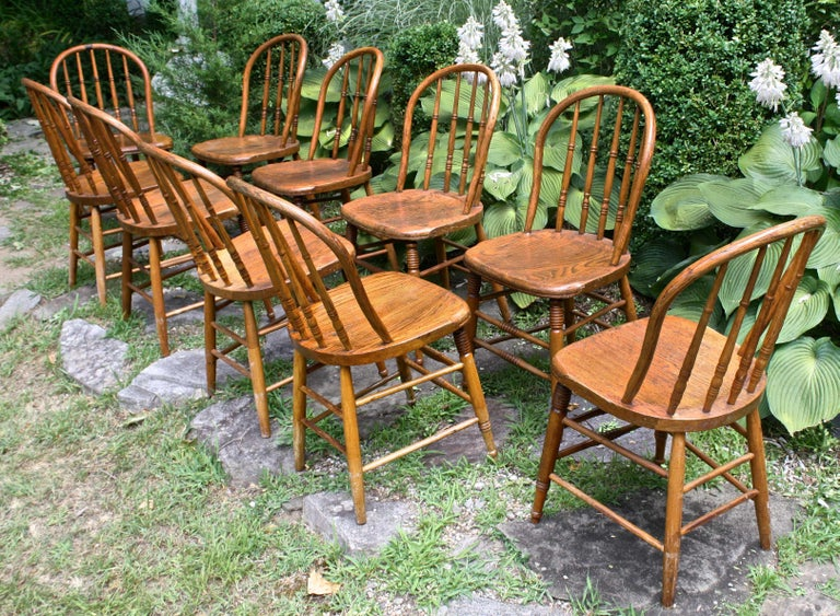 American TEN Connecticut Hoop Back Windsor Chairs For Sale