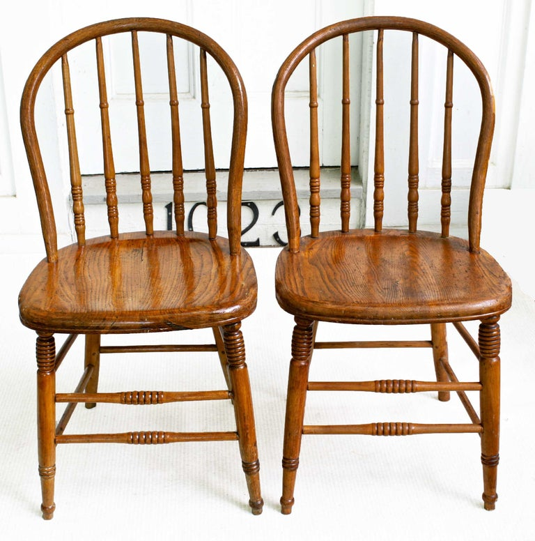 Hand-Crafted TEN Connecticut Hoop Back Windsor Chairs For Sale