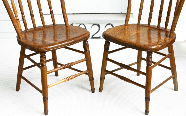 19th Century TEN Connecticut Hoop Back Windsor Chairs For Sale