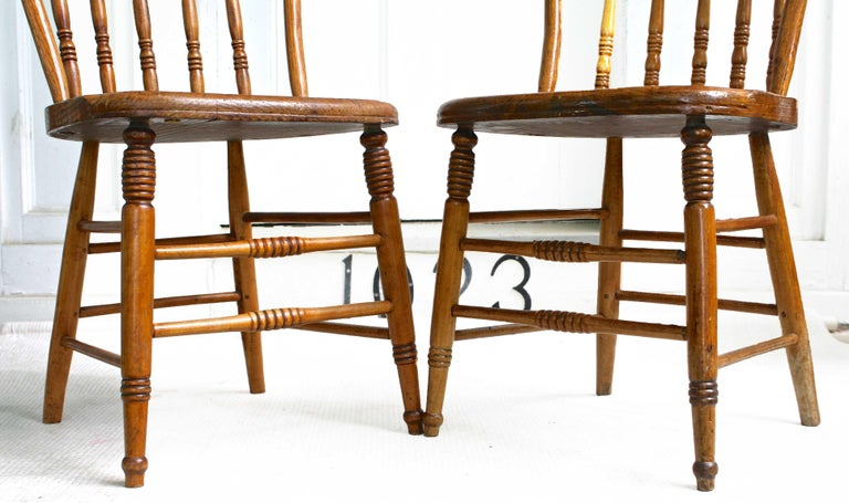 Maple TEN Connecticut Hoop Back Windsor Chairs For Sale