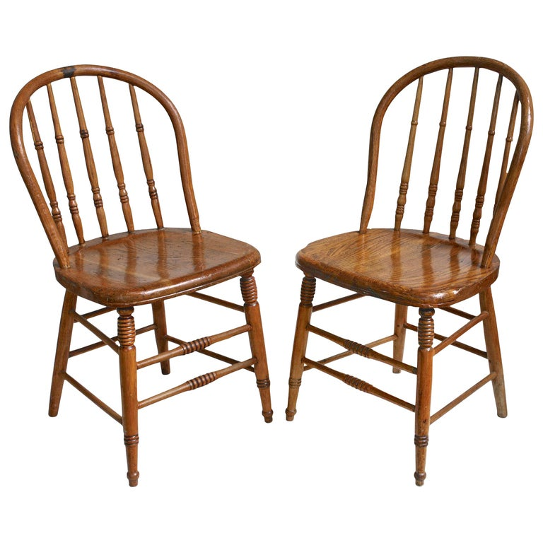 TEN Connecticut Hoop Back Windsor Chairs For Sale