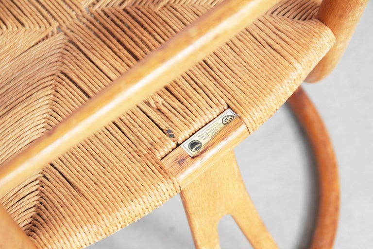 Ten Danish Vintage Wishbone Chairs CH 24 by Hans J. Wegner for Carl Hansen Oak For Sale 4