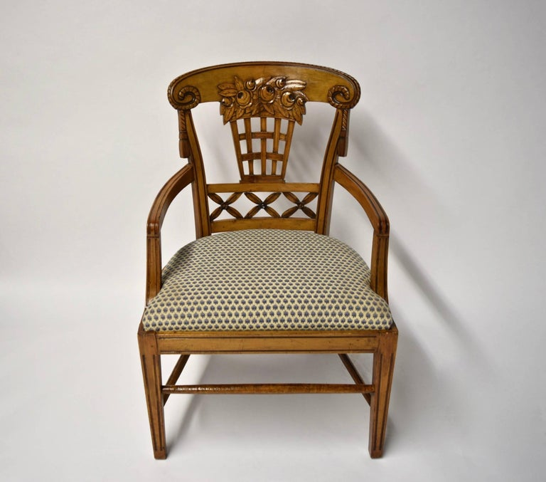 Ten Dining Chairs by André Groult, France, 1912 For Sale 6