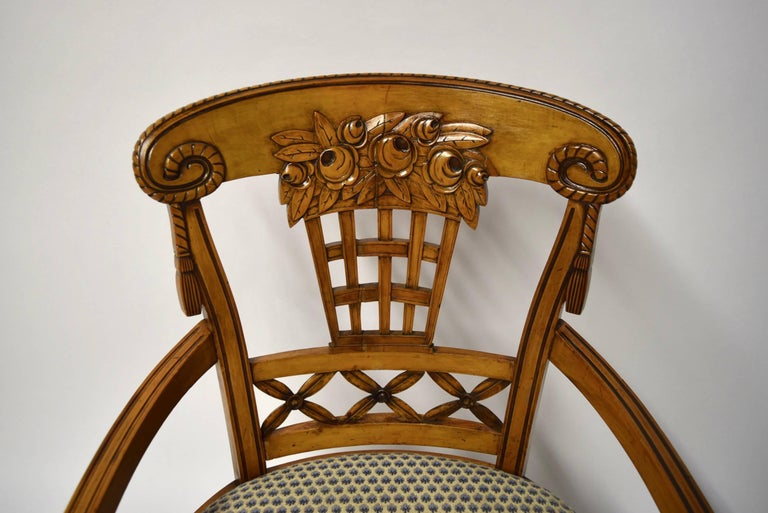 Ten Dining Chairs by André Groult, France, 1912 For Sale 7