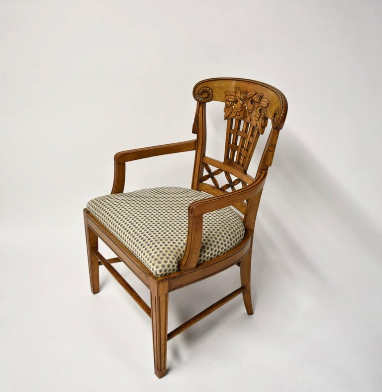 Ten Dining Chairs by André Groult, France, 1912 For Sale 8