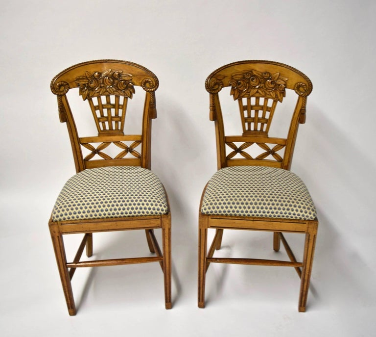 Art Nouveau Ten Dining Chairs by André Groult, France, 1912 For Sale