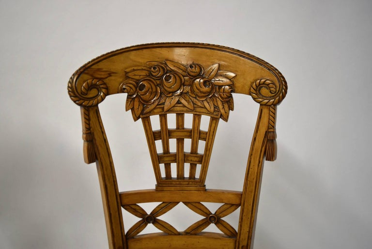 French Ten Dining Chairs by André Groult, France, 1912 For Sale