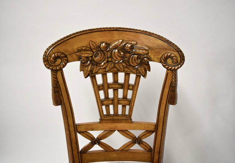 Ten Dining Chairs by André Groult, France, 1912 In Good Condition For Sale In Jersey City, NJ