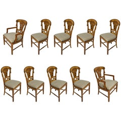 Ten Dining Chairs by André Groult, France, 1912