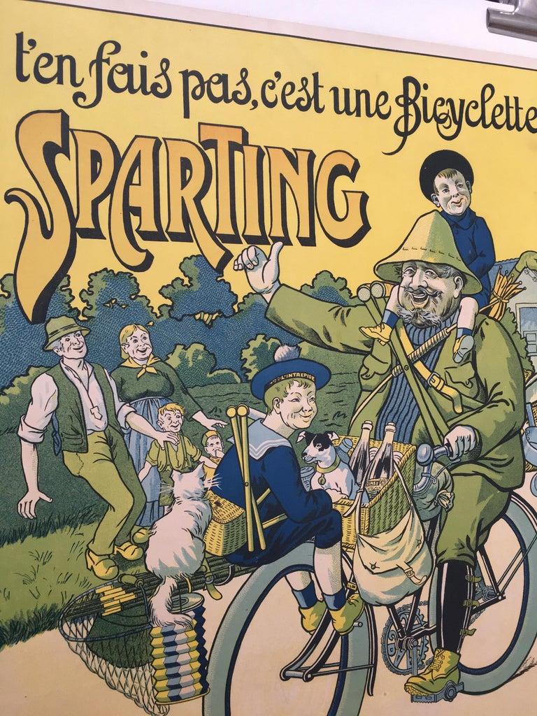 'T'en Fais Pas, C'est Une Bicyclette Sparting', original lithograph poster  T'en Fais Pas, C'est Une Bicyclette Sparting -