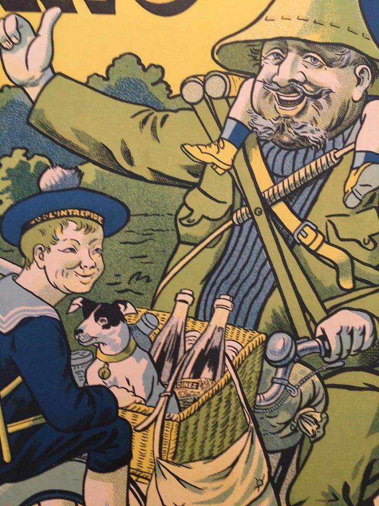 'T'en Fais Pas, C'est Une Bicyclette Sparting', Original Lithograph Poster In Fair Condition For Sale In Melbourne, Victoria