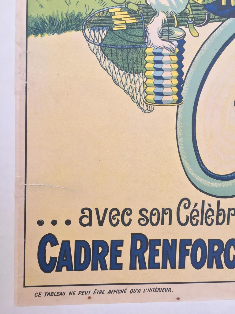 20th Century 'T'en Fais Pas, C'est Une Bicyclette Sparting', Original Lithograph Poster For Sale