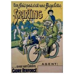 'T'en Fais Pas, C'est Une Bicyclette Sparting', Original Lithograph Poster