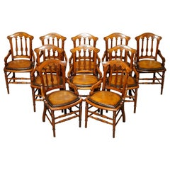 Ten Fully Restored Gillows & Co Lancaster and London Georgian Dining Chairs 10