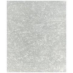 Large Ten Grey Hand Knotted Wool, Tencel & Aloe Rug