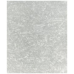 Ten Grey Hand Knotted Wool, Tencel and Aloe Rug 'Small-Size'