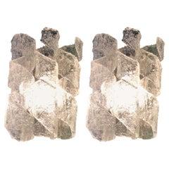 Ten Pairs of Italian Midcentury Wall Lights in Murano Glass by Esperia