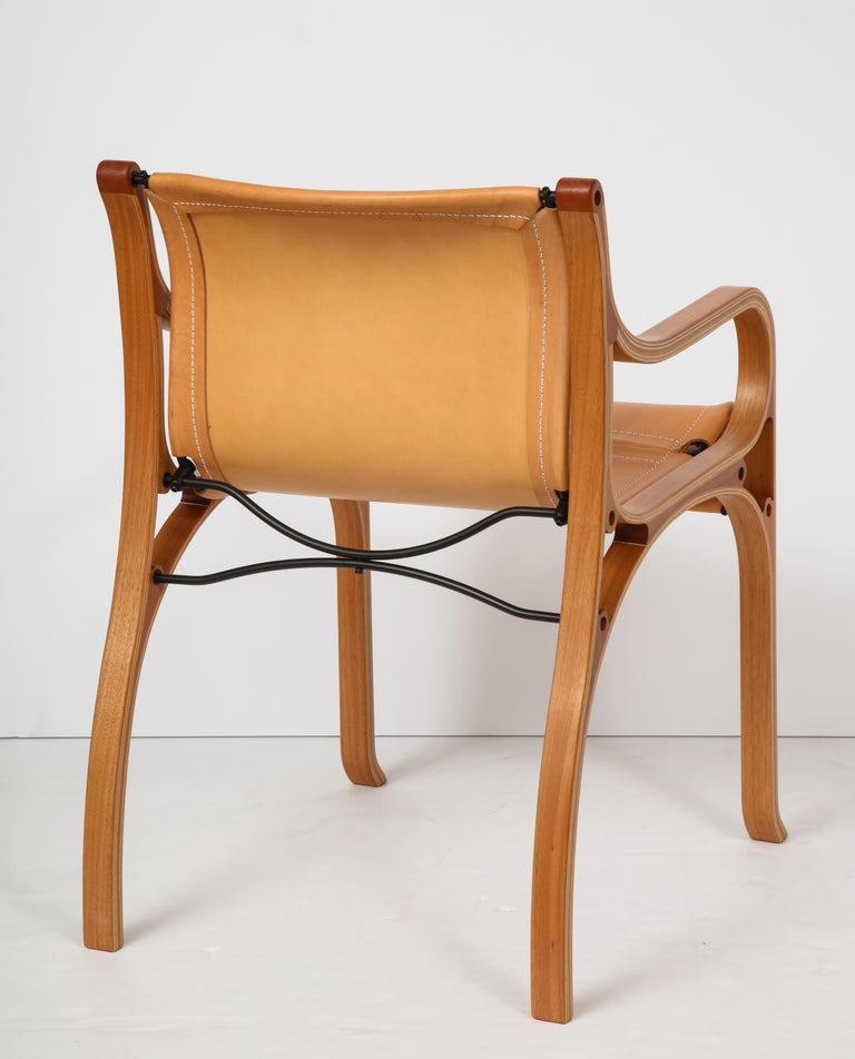 Ten Saddle Stitched Leather Dining Chairs For Sale 1