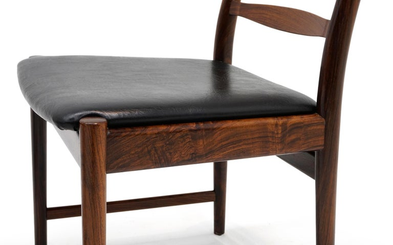 Ten Solid Rosewood Dining Chairs, Torbjørn Afdal, Two Arm and Eight Side Chairs For Sale 4
