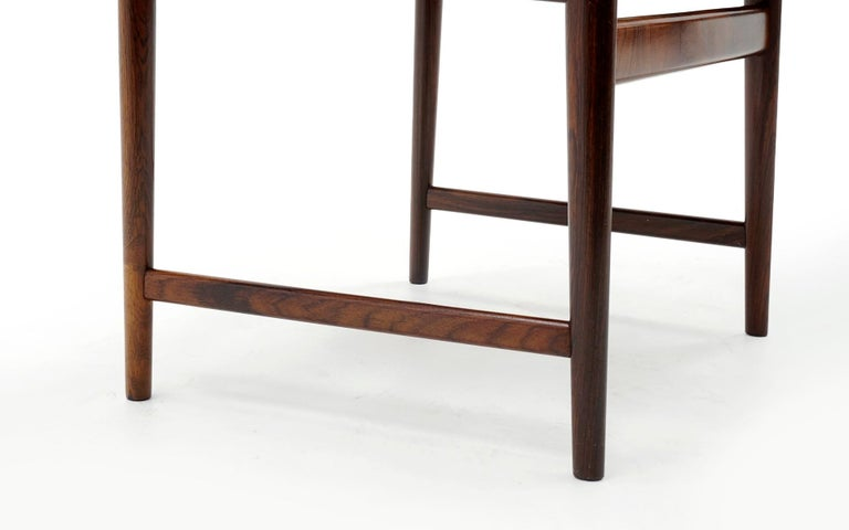 Ten Solid Rosewood Dining Chairs, Torbjørn Afdal, Two Arm and Eight Side Chairs For Sale 6