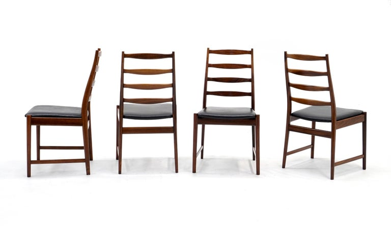 Beautiful set of 10 solid rosewood dining chairs designed by Torbjørn Afdal, Norway, 1960s. These are in amazing original condition. Very few signs of wear. Very solid and sturdy chairs in which a person can sit for long periods. Simply one of the