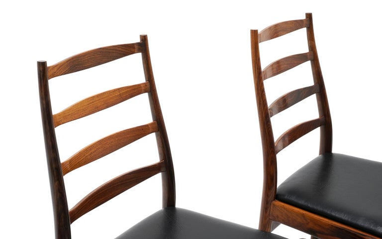 Ten Solid Rosewood Dining Chairs, Torbjørn Afdal, Two Arm and Eight Side Chairs For Sale 1