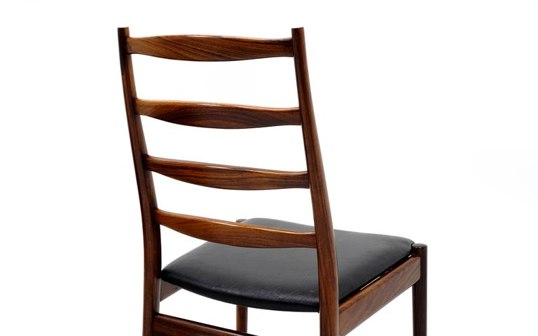 Ten Solid Rosewood Dining Chairs, Torbjørn Afdal, Two Arm and Eight Side Chairs For Sale 2