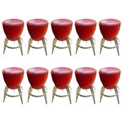 Ten Swedish Bar Stools by Johanson Design