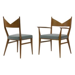 Ten V-Back Dining Chairs by Paul McCobb