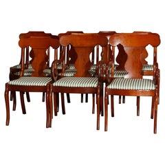 Ten Vintage Pennsylvania House Cherry Gondola Style Dining Chairs, 20th Century