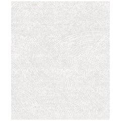 Medium Ten White Hand Knotted Wool, Tencel & Aloe Rug