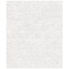 Ten White Hand Knotted Wool, Tencel and Aloe Rug 'Small-Size