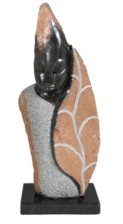 'Honeymoon' original stone Shona sculpture by Marowa & Chideu