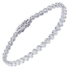 Tennis Bracelet White Gold and Diamonds 5.86 Carat