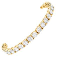 Tennis Bracelet Yellow Gold Bracelet