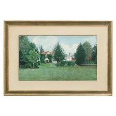 Tennis Painting, Country House with Tennis Court