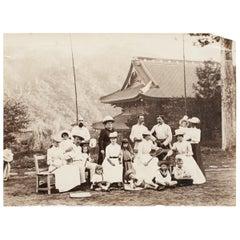 Tennis Photograph, Colonial Scene