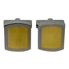 TeNo Cufflinks in Nickel-Free Stainless Steel and 18 Karat Gold