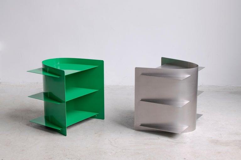 Steel Tension Side Table, Paul Coenen For Sale