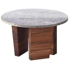 """Teoca"" Coffee Side Table with Marble Top"