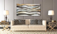 'Calico Tails', Large contemporary abstract acrylic painting