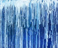 'Fractured Water', Large abstract painting
