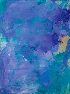 'Lavender 1', contemporary abstract oil painting mini series