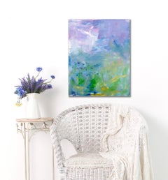 'Lexi's Garden 2'  Medium Contemporary Abstract Acrylic Painting